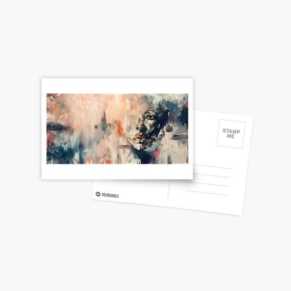 Hidden Face Abstract Postcard