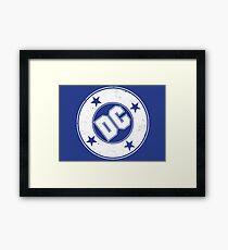 DC COMICS - VINTAGE WHITE Framed Print