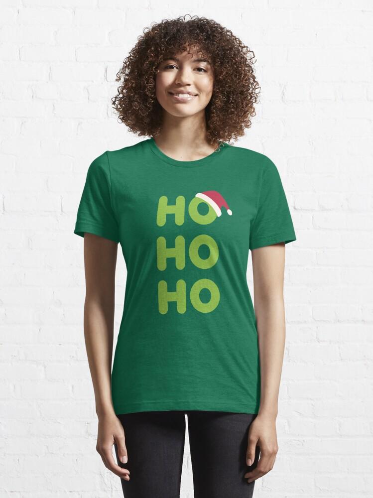 Alternate view of Ho-Ho-Ho Santa Essential T-Shirt