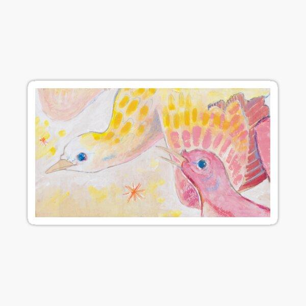 Delicate Doves Sticker
