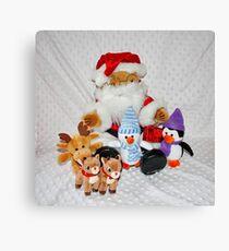 Christmas Fun for Teddy Canvas Print