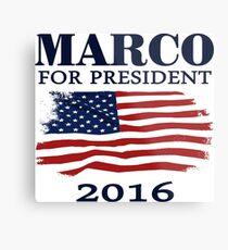 Lámina metálica Marco Rubio para presidente 2016