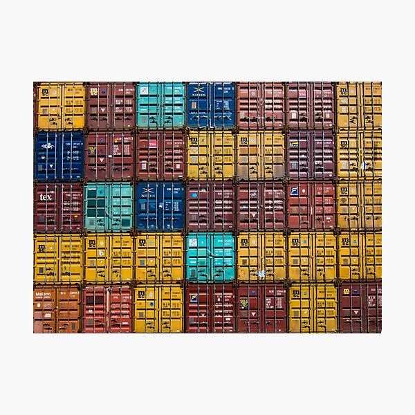 Shipping container pattern Photographic Print