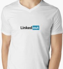 Linked out unsocial networking Men's V-Neck T-Shirt