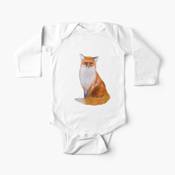 Fox Painting Tatra Cottage Long Sleeve Baby One-Piece