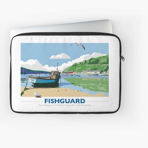 Fishing boat, Lower Town, Fishguard Laptop Sleeve
