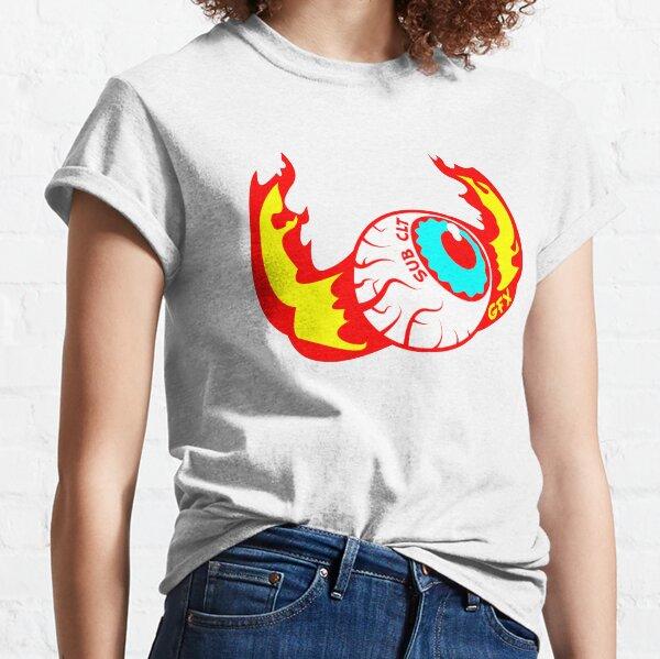 Kustom Kulture Flaming Eyeball Classic T-Shirt