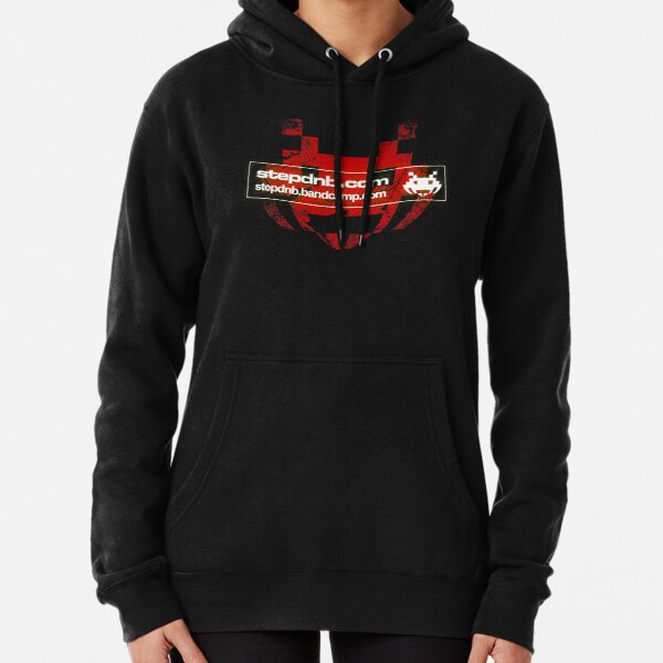 Step Drum and Bass Distress Logo  Pullover Hoodie