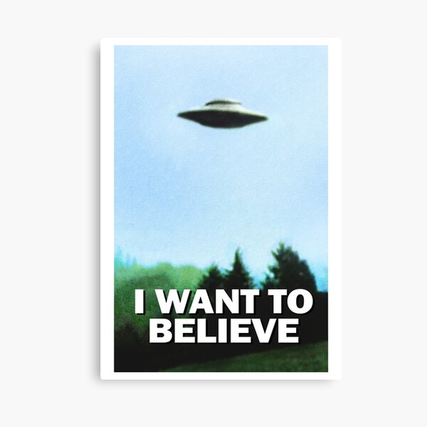 I Want To Believe - saucer in the woods Canvas Print