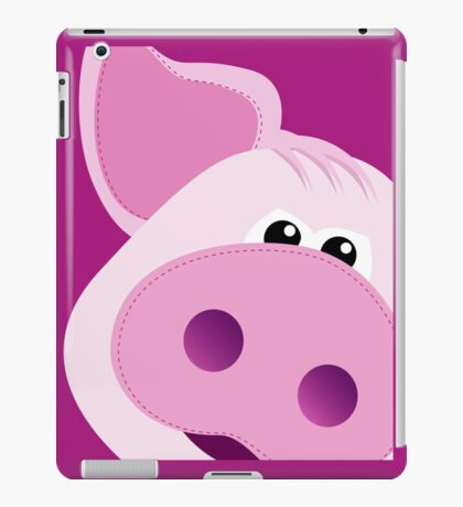 Big Pink Piggy - iPad Cover iPad Case/Skin