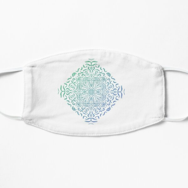 The wave - Mandala geometric wave lines multicolor gradient Mask