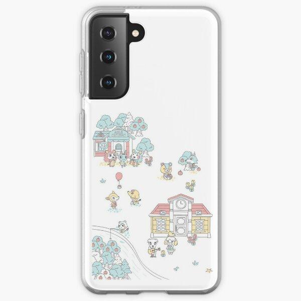 Animal Crossing Pastel Art Samsung Galaxy Soft Case