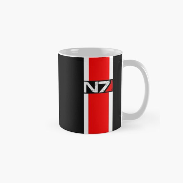 mass effect n7,red Classic Mug