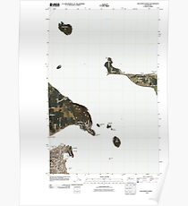 USGS Topo Map Washington State WA Anacortes North 20110418 TM Poster