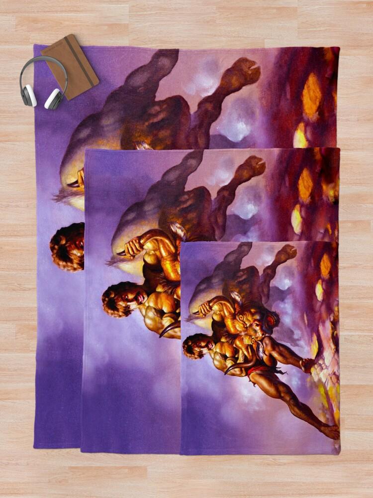 Alternate view of Dodgeball Painting Throw Blanket