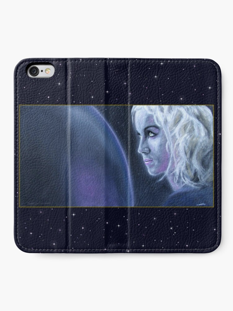 Alternate view of Mystery: Original drawing by Dean Sidwell iPhone Wallet