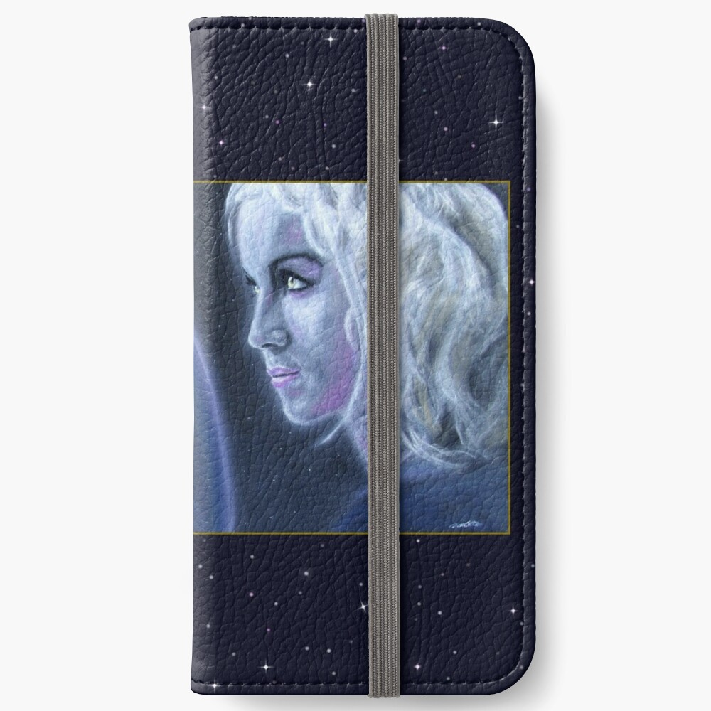 Mystery: Original drawing by Dean Sidwell iPhone Wallet