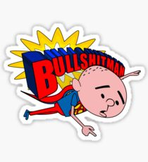 Bullshit Man - Karl Pilkington T Shirt Sticker