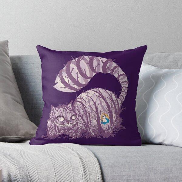Inside wonderland (cheshire cat) Throw Pillow