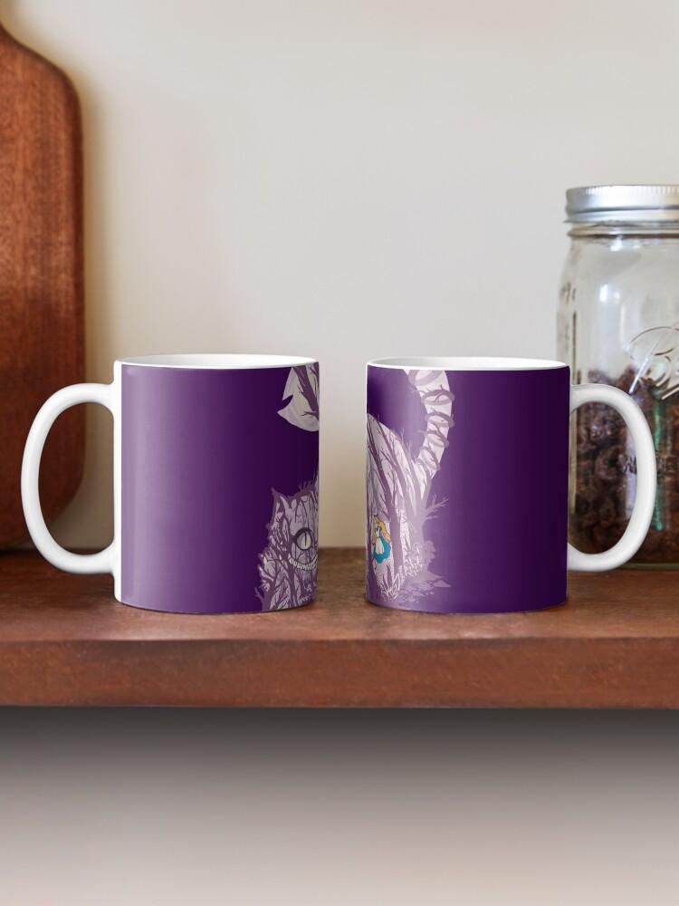 Alternate view of Inside wonderland (cheshire cat) Mug