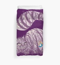 Inside wonderland (cheshire cat) Duvet Cover
