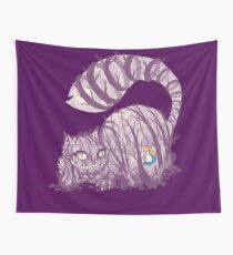 Inside wonderland (cheshire cat) Wall Tapestry