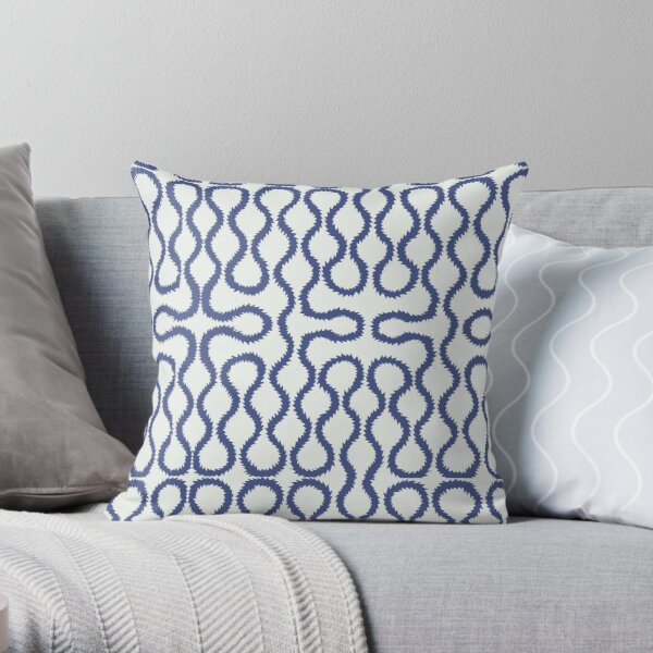 Squiggle pattern Throw Pillow