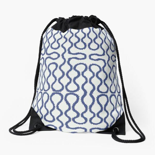 Squiggle pattern Drawstring Bag