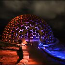 The Dome - Light Painting - Sculptures By The Sea by kcy011