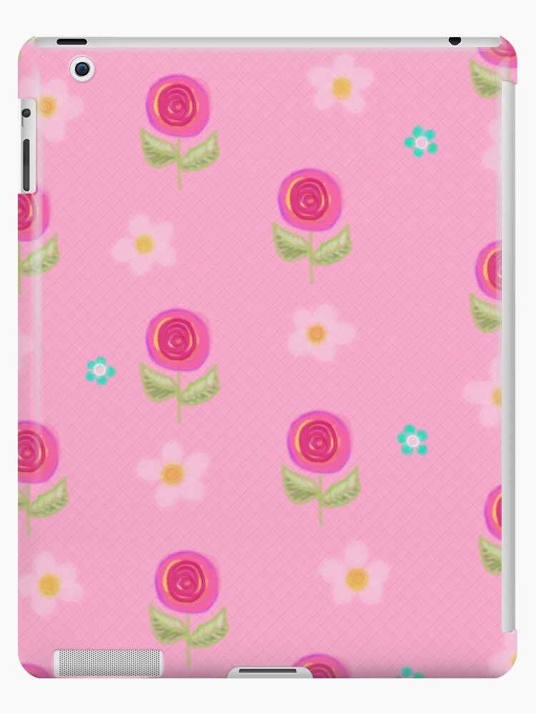 Pretty Pink Petite Flowers iPad Case by CheriesArt
