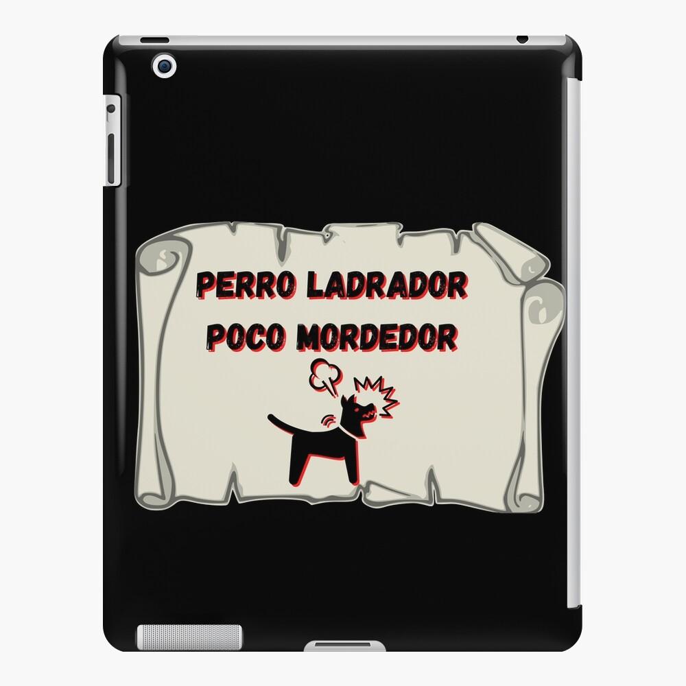 Perro ladrador poco mordedor Funda y vinilo para iPad