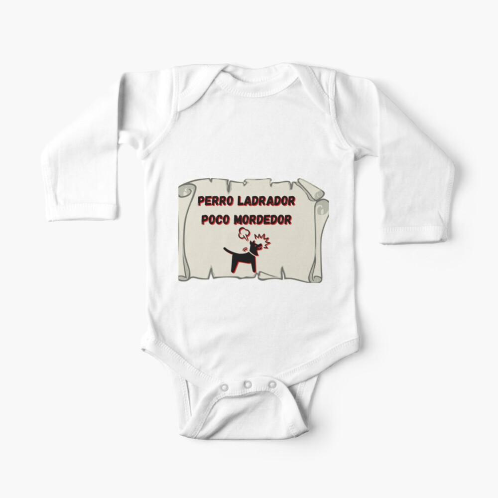 Perro ladrador poco mordedor Body para bebé