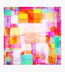 abstract geometric colorful pattern Photographic Print