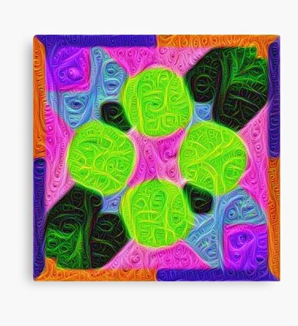 #DeepDream Color Squares Visual Areas 5x5K v1448212784 Canvas Print