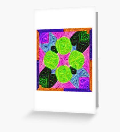 #DeepDream Color Squares Visual Areas 5x5K v1448212784 Greeting Card