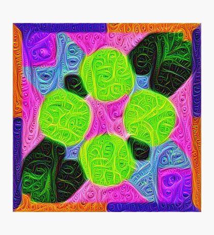 #DeepDream Color Squares Visual Areas 5x5K v1448212784 Photographic Print