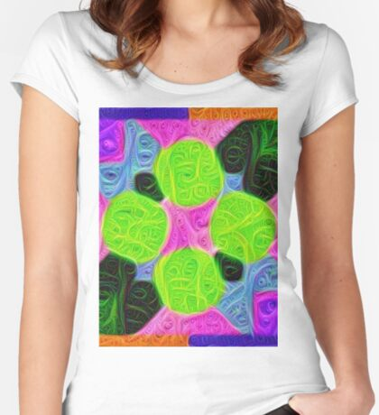 #DeepDream Color Squares Visual Areas 5x5K v1448212784 Fitted Scoop T-Shirt