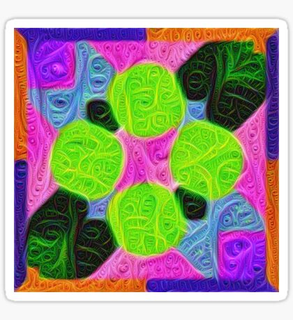 #DeepDream Color Squares Visual Areas 5x5K v1448212784 Sticker