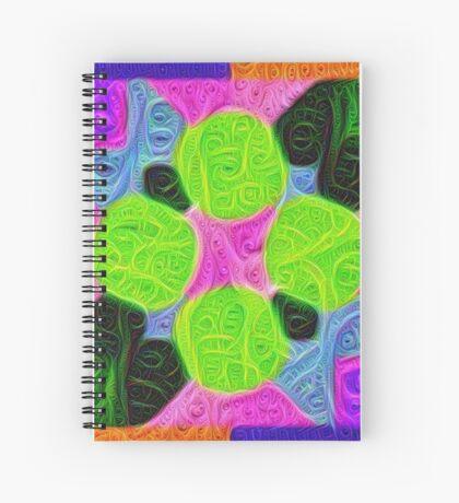 #DeepDream Color Squares Visual Areas 5x5K v1448212784 Spiral Notebook