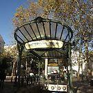 Abbesses station  art deco entrance, Paris by graceloves