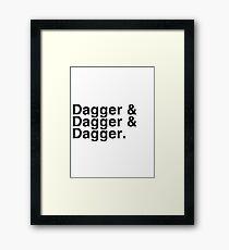 Helvetica List - Dagger Dagger Dagger - Critical Role Framed Print