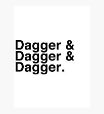 Helvetica List - Dagger Dagger Dagger - Critical Role Photographic Print