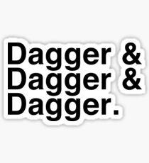 Helvetica List - Dagger Dagger Dagger - Critical Role Sticker