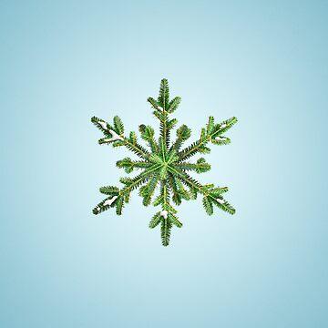 Snowy Pine Snowflake iPad Case by azzza