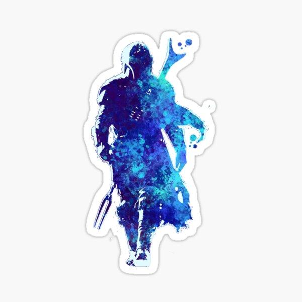 Salpicadura de pintura azul silueta MANDO Pegatina
