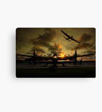 Sunset Lancaster Bombers Canvas Print