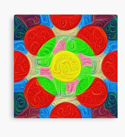 #DeepDream Color Squares Circles Visual Areas 5x5K v1448218386 Canvas Print