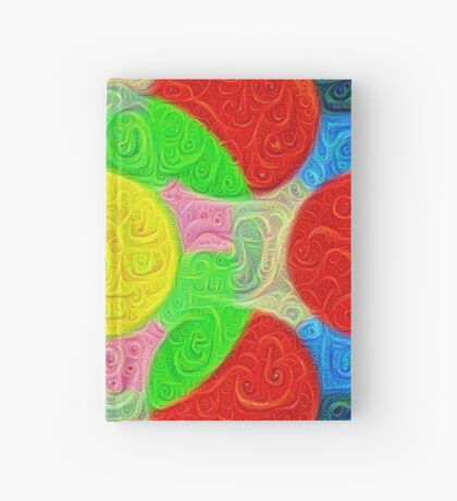 #DeepDream Color Squares Circles Visual Areas 5x5K v1448218386 Hardcover Journal