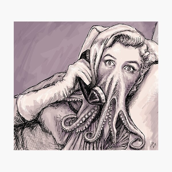 Phone Call of Cthulyn Photographic Print