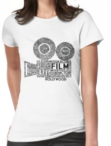 Film Camera Typography - Black Womens Fitted T-Shirt